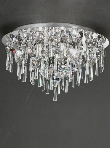 Franklite CF5720 Chrome Ceiling Light